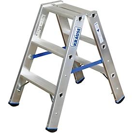 Escalera doble de aluminio, 2 x 3 escalones