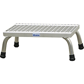 Escalerilla de montaje, con escalones de rejilla de aluminio, 1 escalón