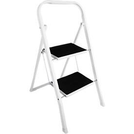Escalerilla plegable, de acero, resiste hasta 150kg de peso máximo, 2 escalones