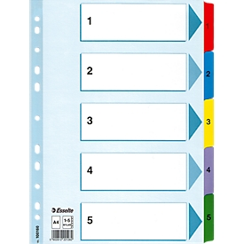 Esselte Karton-Register Mylar, Zahlen 1-5