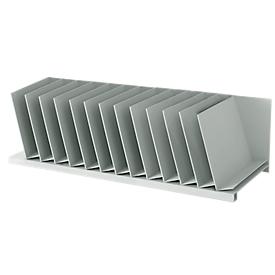 Estación de clasificación, DIN A4, poliestireno, para armarios, 12 compartimentos, ancho 700 x fondo 310 x alto 206 mm