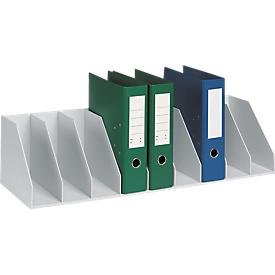 Estación de clasificación, DIN A4, poliestireno, para armarios, 8 compartimentos, ancho 700 x fondo 290 x alto 210 mm