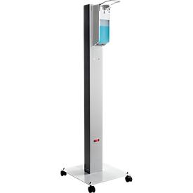 Estación de higiene móvil Manuflex Proficlean S, modular, ancho 400 x fondo 400 x alto 1295 mm, acero, gris claro RAL 7035