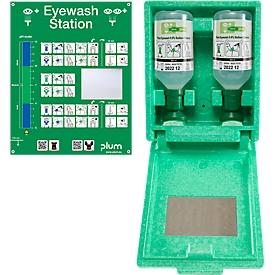 Estación de lavado de ojos en la caja de la pared