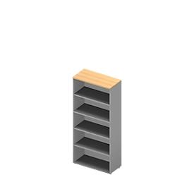 Estantería ARLON OFFICE, 5 alturas de archivo, 4 estantes variables, An 900 x P 450 x Al 2000mm,