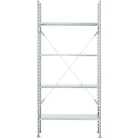 Estantería base, 4 estantes, Al 2278 x An 1055 x P 300mm, galvanizado