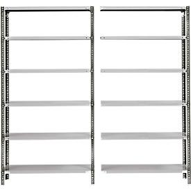 Estantería base FIX, con perfil 1, Al 2560 x P 300mm, capacidad de carga 60kg, lacado