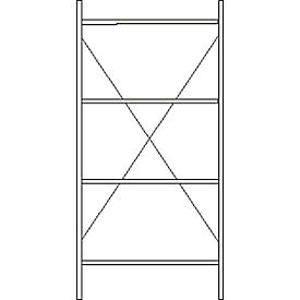 Estantería base, 4 estantes, Al 2278 x An 1055 x P 300mm, lacado