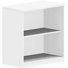 Estantería BEXXSTAR, 2 alturas de archivo, An 800 x P 420 x Al 825mm, blanco