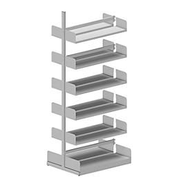 Estantería de cremallera Variabo, módulo adicional, doble lado, prof. estante 250mm, 1000 x 2500mm