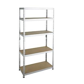 Estantería ensamblable para cargas pesadas, estantería completa, 1000 x 500 x 2000, galvanizado
