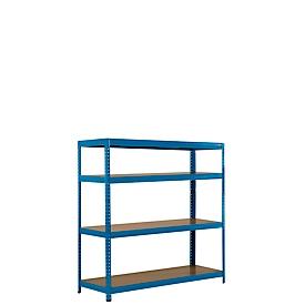 Estantería ensamblable para grandes cargas, estantería completa 1,5m, incl. 4 estantes, Al 1600 x An 1500 x P 600mm