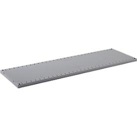 Estantería FS, chapa de acero, ancho 993 x fondo 492 x alto 30 mm, zinc, hasta 100 kg