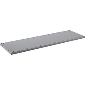 Estantería FS, chapa de acero, W 1281 x D 592 x H 30 mm, zinc, hasta 150 kg