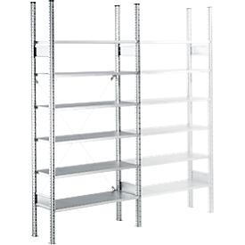 Estantería modular SSI Schäfer R3000, Estantería base, 5 estantes galvanizados, An 1055 x Al 2278mm