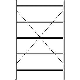 Estantería modular SSI Schäfer R3000, Estantería base, 5 estantes galvanizados, profundidad 300mm, carga por estante 150kg, An 1345/1315 x Al 1960mm