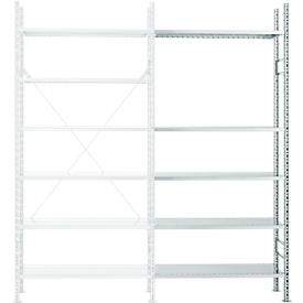 Estantería módulo adicional R 3000, 5 estantes, galvanizado, P 300mm