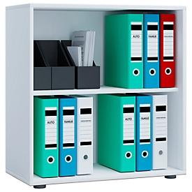 Estantería para archivadores, de madera, 2 AA, estante ajustable en altura, An 700 x P 400 x Al 740mm, blanco