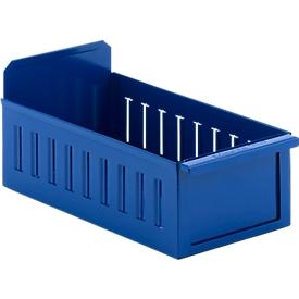 Estantería RK 335, chapa de acero, ancho 162 x fondo 337 x alto 100 mm, para estantes de 350 mm de profundidad, azul