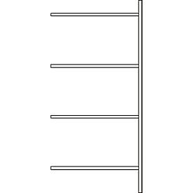 Estantería adicional, 4 estantes, H 2278 x A 1055 x P 300 mm, lacado