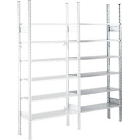 Estantería SSI Schaefer R3000, estantería adicional, 5 estantes galvanizados, ancho 1025 x alto 2278 mm