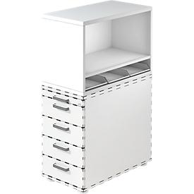 Estantería superior, para archivador fijo, 1 estante, blanco