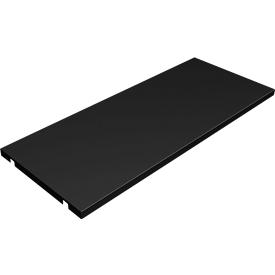 Estantes de metal, ancho 860 mm, negro, 2 por paquete