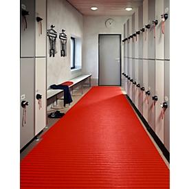 Estera de PVC flexible antideslizante, anchura 800mm, rojo