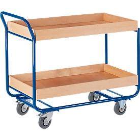 Etagenwagen, m. Hochrand, 2 Etagen, 25 kg
