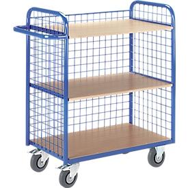 Etagewagen, met gaaswanden, 3-zijdig, 35 kg