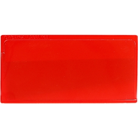 Etikettenhoes Label TOP, magnetisch, 50x110, rood