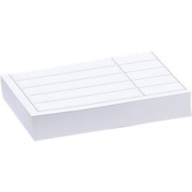 Etiquetas para la bandeja de la estantería, acero, 100 unidades