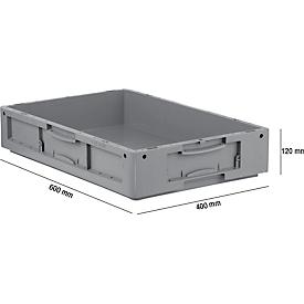 Euro Box Serie LTB 6120, aus PP, Inhalt 20,3 L, ohne Deckel, grau