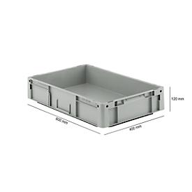 Euro Box Serie LTF 6120, aus PP, Inhalt 21 L, Unterfassgriff, grau