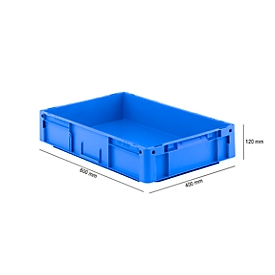 Eurobox serie LTF 6120, de PP, capacidad 21 l, asa cerrada, azul