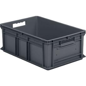 Eurobox SSI Schäfer EF 6220, geschlossen, Polypropylen, B 600 x T 400 x H 220 mm, 43,5 l