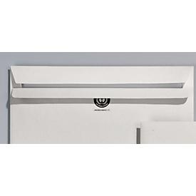 EuroKuvert gerecycleerde enveloppen, 125 x 235 mm (DIN Lang Compac), zonder venster, zelfklevend, doos van 1000 stuks