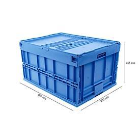Euronorm plooibox 8645 DS, blauw