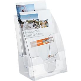 Expositor de folletos, 3 compartimentos, DIN A4