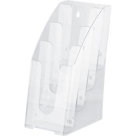 Expositor de folletos, 4 compartimentos, 1/3 DIN A4