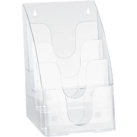Expositor de folletos, 4 compartimentos, DIN A5
