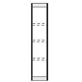 extremo, para estantería de acero PROGRESS 2000, Al 1900 x P 300mm, plata