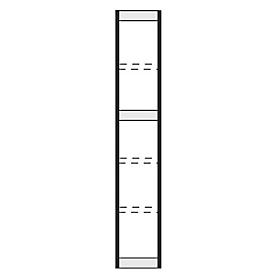 extremo, para estantería de acero PROGRESS 2000, Al 2250 x P 300mm, plata