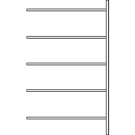 Fachbodenregal SSI Schäfer R3000, Anbauregal, 5 verzinkte Böden, Tiefe 300 mm, Fachlast 150 kg, B 1345/1315 x H 1960 mm