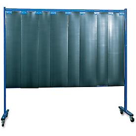 Fahrbare Schutzwand mit Lamellen, 1-tlg., dunkelgrün