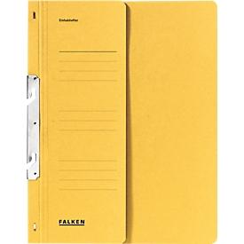 FALKEN Einhakhefter, DIN A4, halber Deckel, 1 Stück, gelb