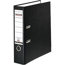 Falken PP-Color Ordner, DIN A4, Rückenbreite 80 mm, 20 Stück, schwarz