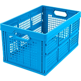 Faltbox im EURO-Maß 532-40, ohne Deckel, 40 l, blau