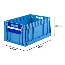 Faltkasten im EURO-Maß ECT 6285 GL 2SK, ohne Deckel, 55,8 l, blau