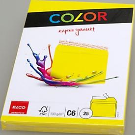 Farbige Kuverts, C6, gelb, 25 Stück